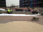 Priora self draing paving system to podium