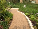 Podium finished Resin Bonded surface on Ashpalt footway construction