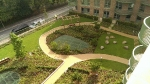 Resin bound footpaths to the Podium Garden at Kidbrooke Garden Village